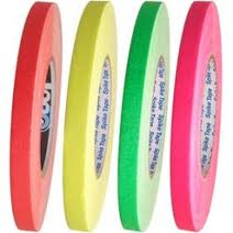 "1/2"" Fluorescent Pro Spike Tape - Case of 24 Rolls (4 Colors)"