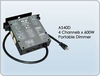 AS40D 4 Channel x 600W Portable Dimmer