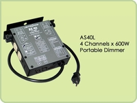 AS40L 4 Channel x 600W Portable Dimmer