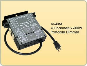 AS40M 4 Channel x 600W Portable Dimmer