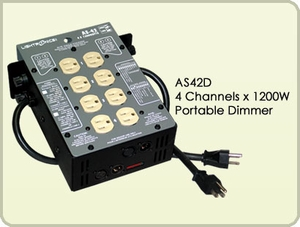AS42D 4 Channel x 1200W Portable Dimmer