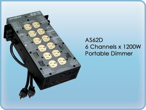 AS62D 6 Channel x 1200W Portable Dimmer