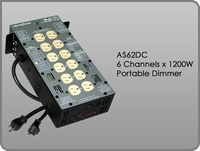 AS62DC 6 Channel x 1200W Portable Dimmer