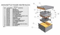 Battle Fogger 1250W 120V Heat Element (Rapid Change Block) - #CXP-1264