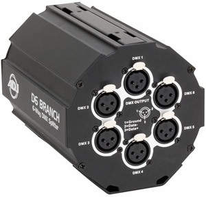 D6 Branch 6-Way DMX Splitter - 3Pin