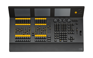 dot2 XL-F Console - 3 Screens, 14 faders, 28 Buttons, 4,096 Channels