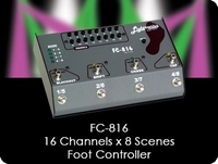 FC-816 16 Channel x 8 Scene Foot Controller