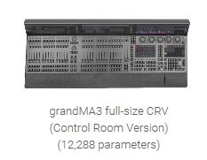 grandMA3 Full Size CRV - 12,288 Parameter Lighting Console