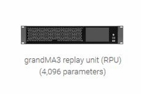 grandMA3 Replay Unit – 4,096 Parameter Rack-Mount Controller