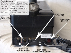 Stage Fogger DMX Illuminated Power Switch - Part #CXP-3040