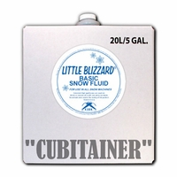 Little Blizzard Basic Snow Fluid - 5 Gallon Cubitainer