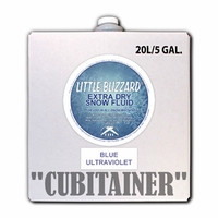Little Blizzard Ultraviolet Blue Snow Fluid - 5 Gallon Cubitainer
