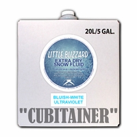 Little Blizzard Ultraviolet Bluish-White Snow Fluid - 5 Gallon Cubitainer