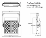 ProCan 20-Lite MR-16 Audience Blinder - Wired