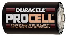 Procell D Batteries - Case of 72