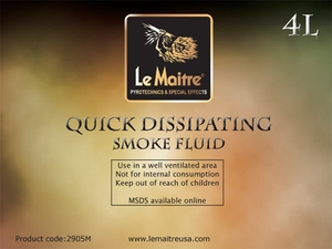 Quick Dissipating Fog Fluid - Case of Four 4L Bottles
