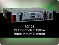 RD121 12 Channel x 1200W Rack Mount Dimmer