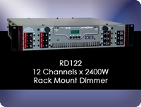 RD122 12 Channel x 2400W Rack Mount Dimmer