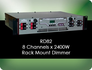 RD82 8 Channel x 2400W Rack Mount Dimmer