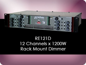 RE121D 12 Channel x 1200W Rack Mount Dimmer