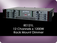 RE121L 12 Channel x 1200W Rack Mount Dimmer
