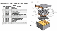 Show Fogger 1250W 120V Heat Element (Rapid Change Block) - #CXP-1264