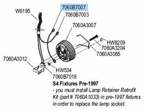 """Source Four Ellipsoidal 4"""" Ground Wire Assembly"""