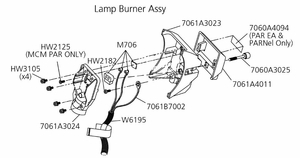 SOURCE FOUR PAR EA, PAR MCM, & PARNel LAMP BURNER ASSEMBLY REPAIR PARTS