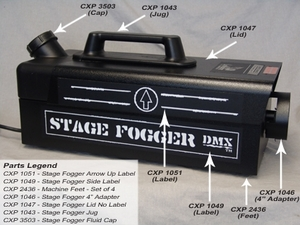 Stage Fogger DMX Replacement Jug - Part #CXP-1043