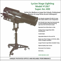 Super Arc 400 Long Throw Spotlight - Model 1267