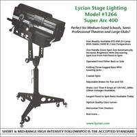 Super Arc 400 Standard Throw Spotlight - Model 1266