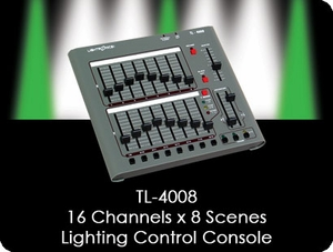 TL-4008 16 Channel x 8 Scene Lighting Control Console