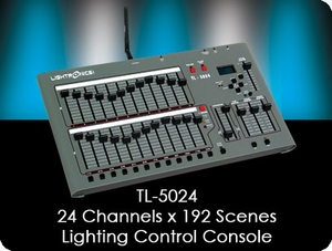 TL-5024 24 Channel x 192 Scene Lighting Control Console