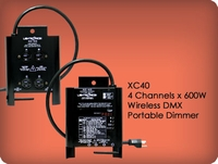XC40 4 Channel x 600W Wireless DMX Portable Dimmer