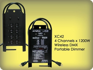 XC42 4 Channel x 1200W Wireless DMX Portable Dimmer