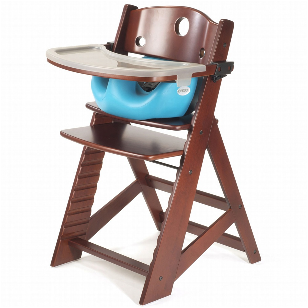 keekaroo height right high chair tray infant insert mahogany. Black Bedroom Furniture Sets. Home Design Ideas