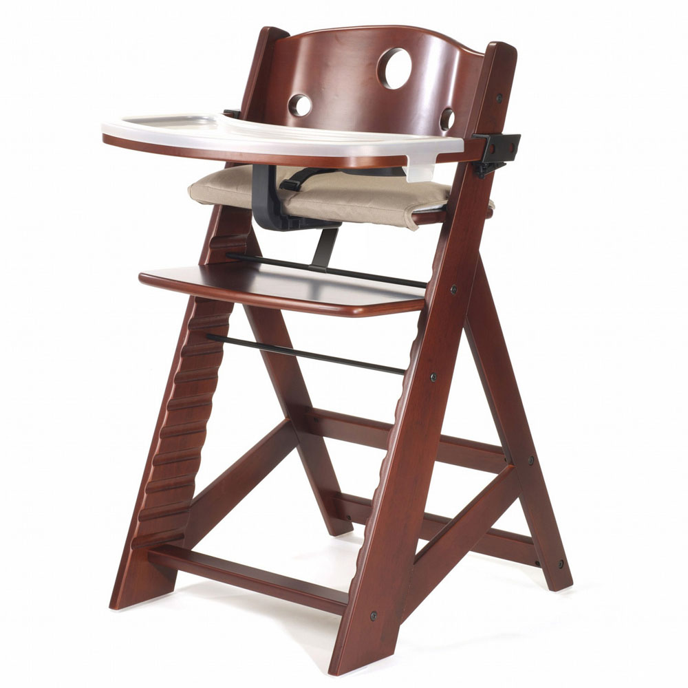keekaroo height right high chair with tray mahogany free shipping. Black Bedroom Furniture Sets. Home Design Ideas