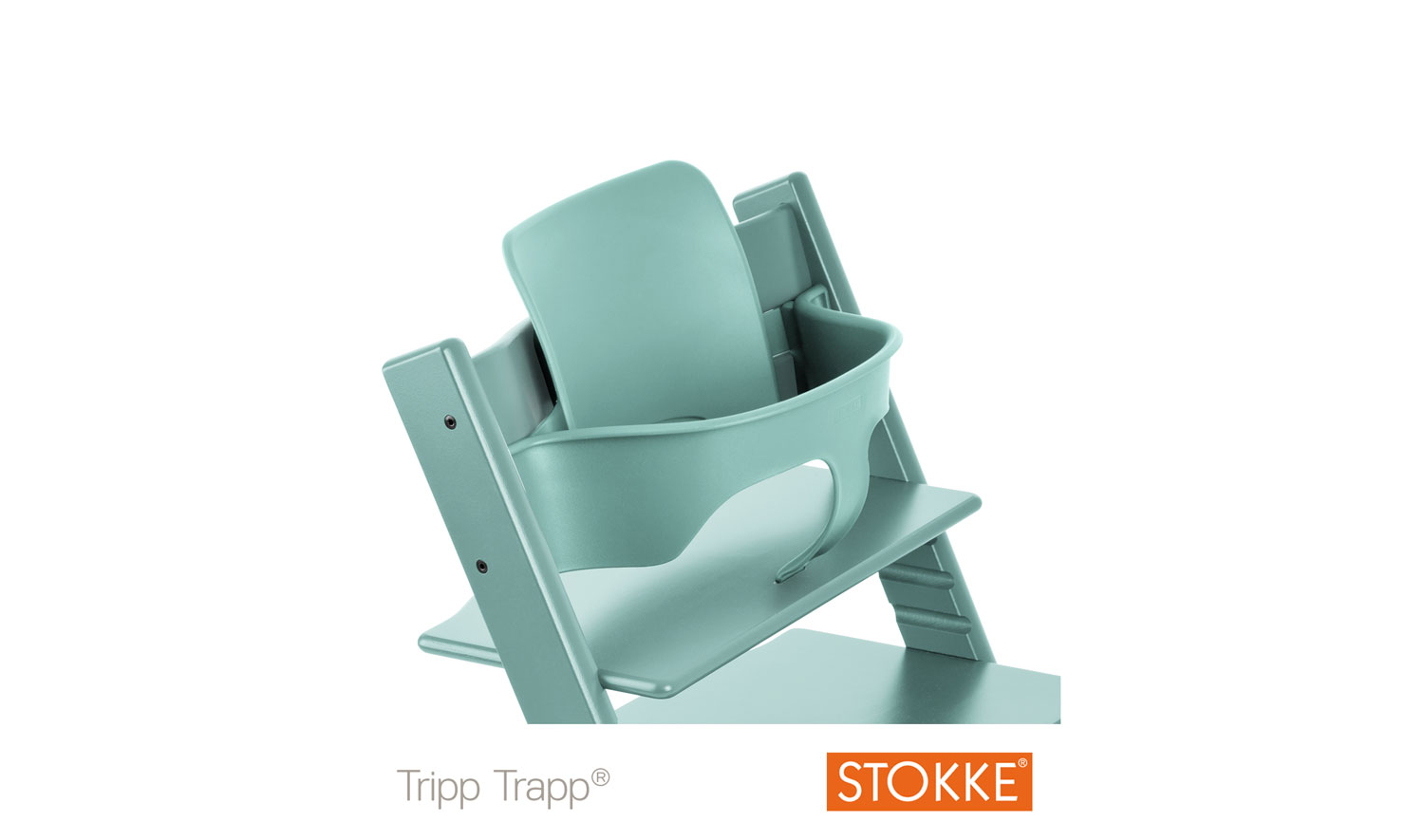 stokke tripp trapp baby set aqua blue free shipping. Black Bedroom Furniture Sets. Home Design Ideas