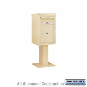 Salsbury 3407S-1P 1 Parcel 4C Pedestal Mailbox with Outgoing Mail Slot