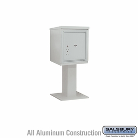 Salsbury 3405S-1PGRY 1 Parcel 4C Pedestal Mailbox - Gray