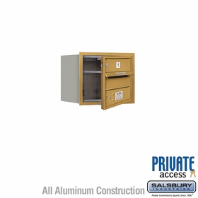 Salsbury 3703S-01GFP 4C Mailboxes 1 Tenant Doors Front Loading