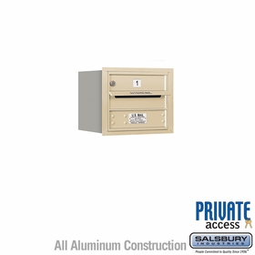 Salsbury 3703S-01SRP 4C Mailboxes 1 Tenant Doors Rear Loading