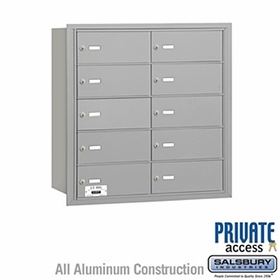 4B Mailboxes 10 Doors - Rear Loading - Private Use