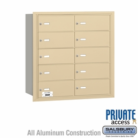 Salsbury 3610SRP 4B Mailboxes 10 Tenant Doors Rear Loading - Private Access