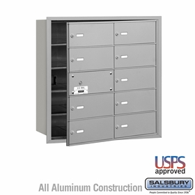 Salsbury 3610AFU 4B Mailboxes 9 Tenant Doors Front Loading - USPS Access