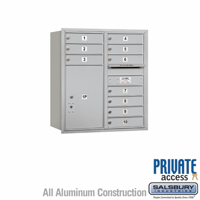 Salsbury 3709D-10ARP 4C Mailboxes 10 Tenant Doors Rear Loading