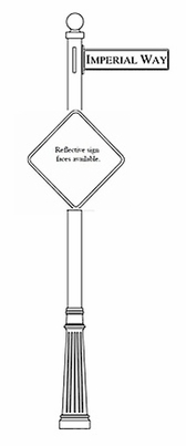 Traffic and Street Sign Package Century Series - Diamond Sign