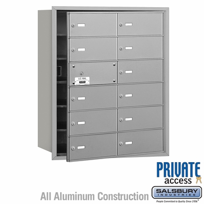 Salsbury 3612AFP 4B Mailboxes 11 Tenant Doors Front Loading - Private Access