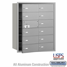 Salsbury 3612AFU 4B Mailboxes 11 Tenant Doors Front Loading - USPS Access