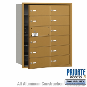 Salsbury 3612GFP 4B Mailboxes 11 Tenant Doors Front Loading - Private Access